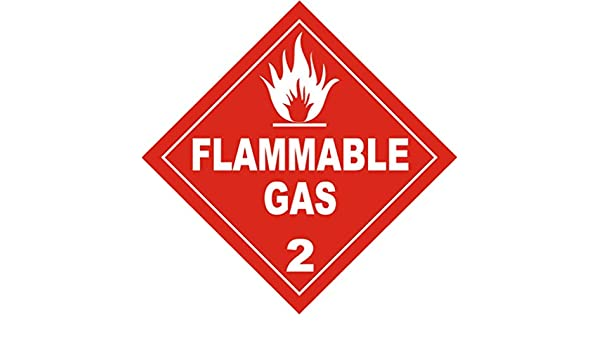 Flammable gas warning sign hazchem self adhesive vehcle camper  by law CLASS 2