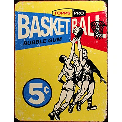 FlowerBeads Topps Basketball Aluminum Signs Tin Poster for Bar Hot Shop Pub Cafe Man Cave Decoration Art Plaque 12X8inch
