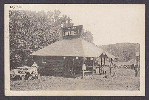 Pique Ice Cream - Idyldell Ice Cream & Picnic Lodge Berkshire Trail MA postcard 1925