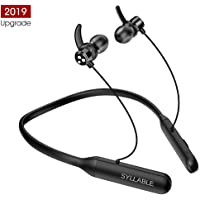 Bluetooth Gaming Headphones, Syllable Wireless Stereo Earphones 6 Hours Playback Neckband Headset with Volume Control for Mobile Tablet and PC Game