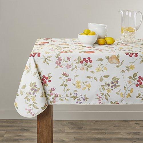 Violet Linen European White Fruit Tablecloth, 60