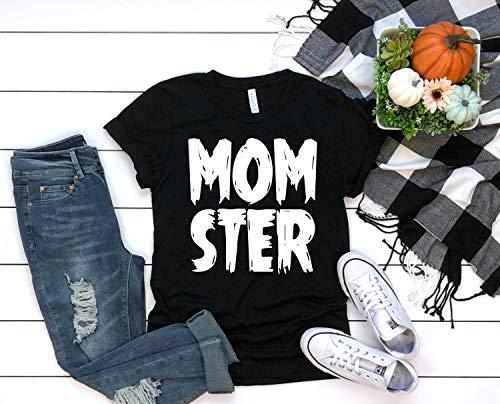 Gifts Idea For You Momster T-Shirt, Halloween T-Shirt, Mom T-Shirt, Women's, Men's, Unisex, Hoodie Black]()