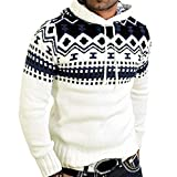 Charberry Shirts For Men Autumn Winter Pullover Knitted Cardigan Coat Hooded Sweater Jacket Outwear