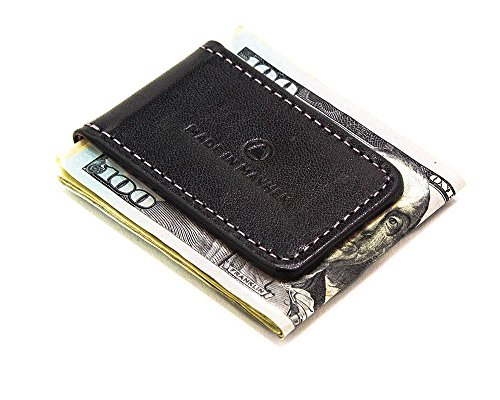 clip Italian USA money magnet men clip leather Jet Black Mayhem by money made for Made In magnetic with Blakc leather in n6wYxn0vqE