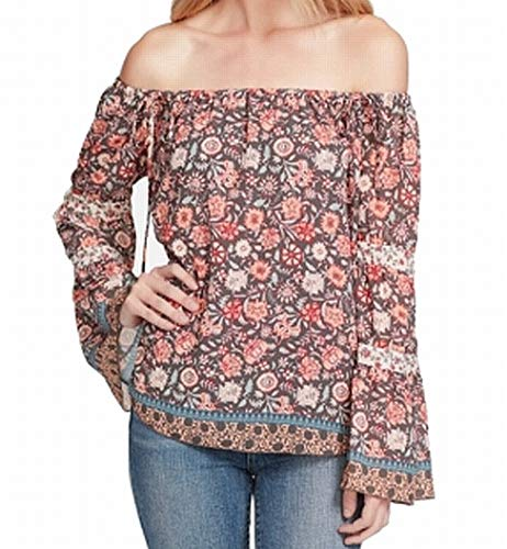 - Jessica Simpson Women's Off Shoulder Floral Blouse Orange XL