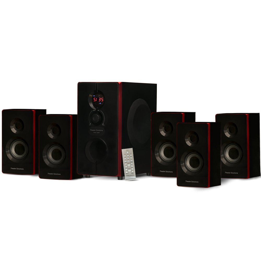 Theater Solutions TS516BT 5.1 Surround Sound Home Entertainment System with Built-In Bluetooth