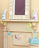 3 Pc Easter Bunny Holding Garland Cut Out Rabbits Spring Decor Whimsical Colorful Garland Springtime Decoration