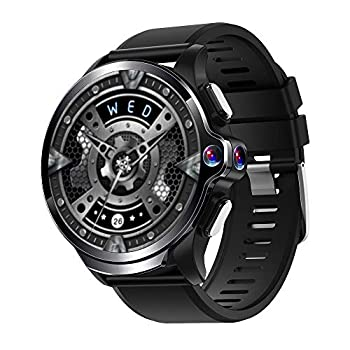 Image of Allcall GT 4G/LTE Smartwatch Phone Long Battery Life Waterproof Face Unlock Dual Cameras 1.6''Round Display Big Memory 3GB RAM 32GB ROM GPS 24h Heart Rate Monitor(Ceramic Bezel, Black Strap) Smartwatches