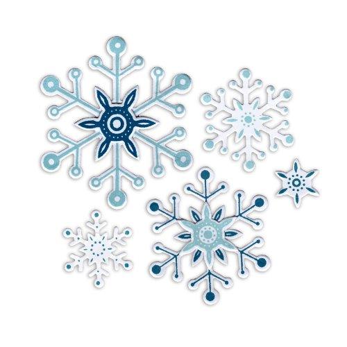 Sizzix Framelits Snowflakes 2 Die Set with Stamps, Pack of 8 Ellison Europe 658622