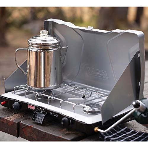 Coleman Gas Camping Stove | Triton+ Propane Stove, 2 Burner