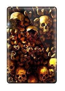 High Impact Dirt/shock Proof Case Cover For Ipad Mini/mini 2 (skull Heart Dark Abstract Dark)