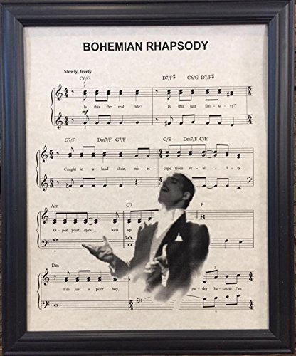 (Ready Prints Bohemian Rhapsody by Queen Music Sheet Artwork Print Picture Poster Home Office Bedroom Nursery Kitchen Wall Decor - unframed)