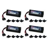 Venom 7.2V 1600mAh 6-Cell NiMH Battery with Universal Plug (EC3 Deans Traxxas Tamiya) x4 Packs