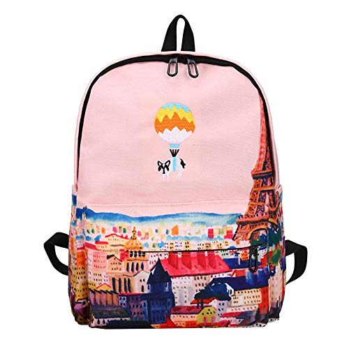 Amazon.com: Landscape Embroidery Printing Backpack Women Casual Canvas School Bags for Teenager Girls Four Design Rucksack Mochila: Kitchen & Dining