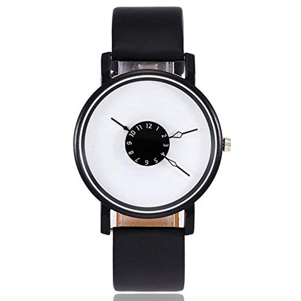 Vansvar Women's Casual Quartz Watch Leather Band New Strap Analog Stainless Steel Wrist Watch Gift ODGear Clearance