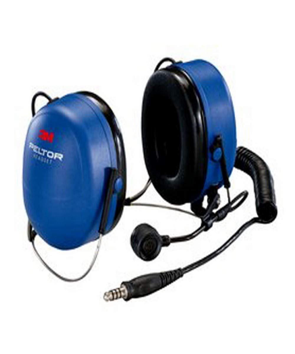 3M 04046719952946 Peltor FM Approved Headset with Neckband, Capacity, Volume, Standard, Black/Blue