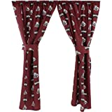 College Covers Mississippi State Bulldogs Printed Curtain Panels, 42 by 63''