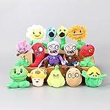 homeoftoys Plants vs Zombies PVZ Toddler Stuffed Animal Plush Kids Toys (14 Pcs)