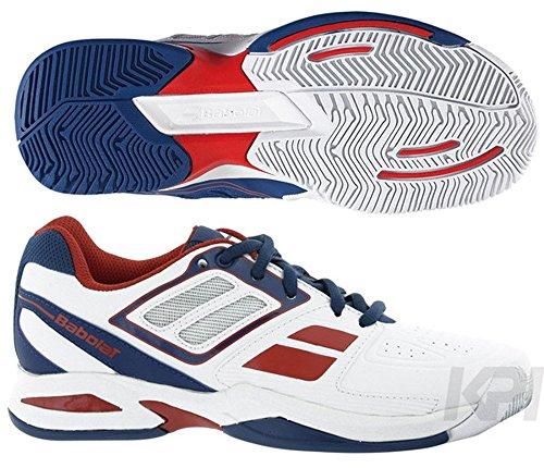 BABOLAT Chaussure de tennis Propulse Team BPM pour Junior, Blanc/Bleu/Rouge, 31