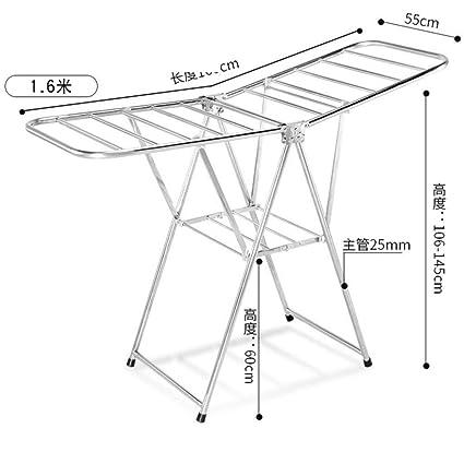 Amazoncom Le Floor Folding Drying Rackstainless Steel Airfoil