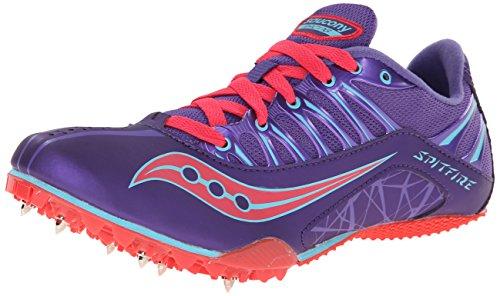 Saucony Women's Spitfire Track Spike Racing Shoe,Purple/P...