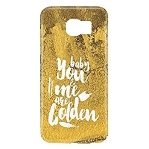 Loud Universe Samsung Galaxy S6 3D Wrap Around Baby You and Me Are Golden Print Cover - Yellow