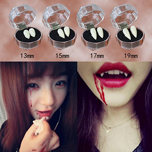 EBTOYS Vampire Teeth Halloween Party Cosplay Prop Decoration Horror Scary Teeth with Glue,8 pieces -