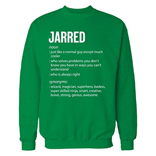 Inked Creatively Jarred Name Meaning Xmas Birthday Gift - Sweatshirt Irish_Green 2XL (Christmas Jarred Gifts)