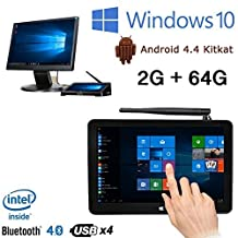 """Pipo X9 2G/64G Mini PC TV Box Support Dual System Windows 10 Android 4.4 Media Player Device Intel Z3736F Quad Core 2.16GHz 8.9"""" Tablet"""