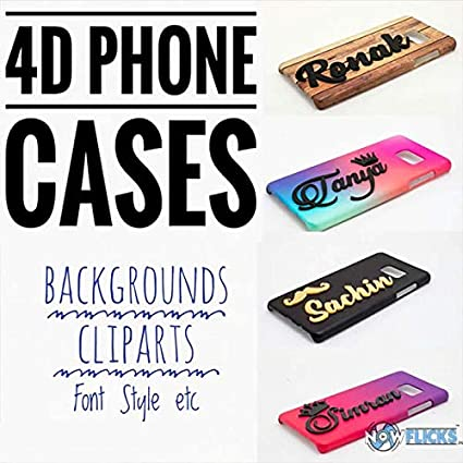 Nowflicks Custom Prints Personalized 4D Name Printed Mobile Back Cases  (Multicolour)