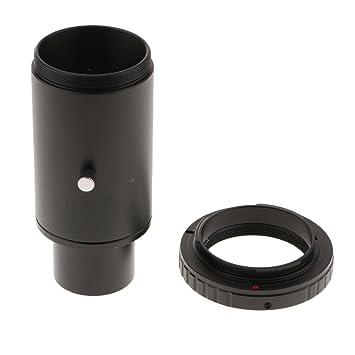 F Fityle Adaptador de Anillo y telescopio T para cámara DSLR/SLR ...