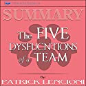 Summary: The Five Dysfunctions of a Team Audiobook by Readtrepreneur Publishing Narrated by Douglas Birk