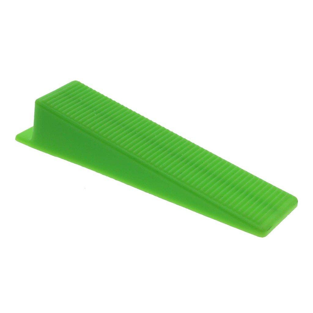 VANKER 50Pcs Green Large Practical Tile Flat Leveling System Wall Flooring Balance Wedge Tool