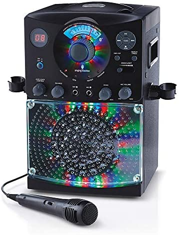 Singing Machine SML385UBK Bluetooth Karaoke System with LED Disco Lights