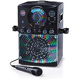 Singing Machine SML385BTBK Bluetooth Karaoke System with LED Disco Lights, CD+G, USB, and Microphone, Black