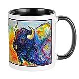 CafePress Colorful Buffalo, Southwest Art Mugs Unique Coffee Mug, Coffee Cup