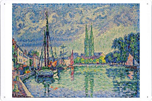 Artwork Oil Paint of Paul Signac - L'Odet a Quimper, 1929 on Tin Sign by Masterpiece Collection (20*30cm)