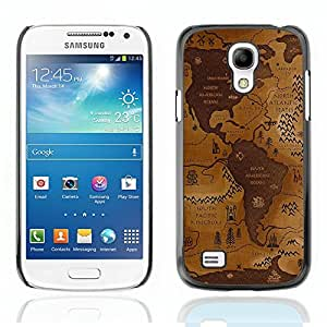 Graphic4You World Map Geography Design Hard Case Cover for Samsung Galaxy S4 Mini