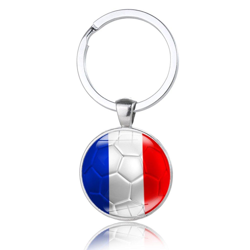 xumeili RussiaスポーツMeetサッカーファン土産National Flagサッカーキーチェーンギフト B07DNVQ4PY フランス フランス