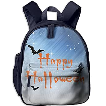Toddler Kids Happy Halloween Pre School Backpack School Bag Navy
