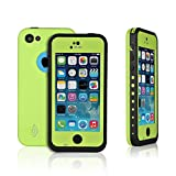 Weksi®Iphone 5c Cases, Weksi®Dust Proof, Snow Proof, Shock Proof, Waterproof Cases for Iphone 5/5c with Rugged Protection Iphone 5 Cover(Green)