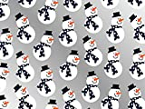 Pack of 1, Frosties Navy Scarf 18'' x 833 Full Ream Gift Wrap (Metallized) for Holiday, Party, Kids' Birthday, Wedding & Special Occasion Packaging