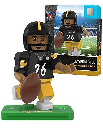 NFL Pittsburgh Steelers Gen4 Limited Edition Le'Veon Bell Mini Figure, Small, White by OYO