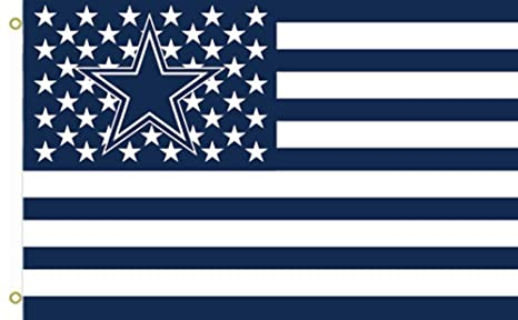 29e4222a74d Image Unavailable. Image not available for. Color  NFL Dallas Cowboys Stars  and Stripes Flag Banner 3X5 FT USA ...