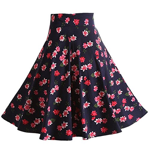 Tailloday 1950's Vintage Full Circle Pleated Floral A Line Midi Skirt M (Skirt Pleated Circle Full)