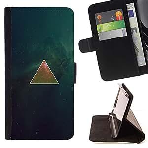 Momo Phone Case / Flip Funda de Cuero Case Cover - Espacio Triangel Galaxy;;;;;;;; - Samsung Galaxy Note 5 5th N9200