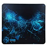 Large Hard Gaming Mouse Pad by ENHANCE - Rigid Mouse Pad ABS Plastic with Optimized Tracking Surface , Non-Slip Rubber , Black and Blue Design - Professional eSports High Speed Tournament Pad