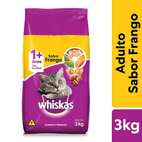 Ração Whiskas Frango Para Gatos Adultos 3 kg