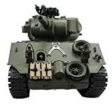 Fisca RC Tank 15 Channel Remote Control 1:20 USA Sherman M4A3 Main Battle Tank Model Shoots AirSoft & bbs