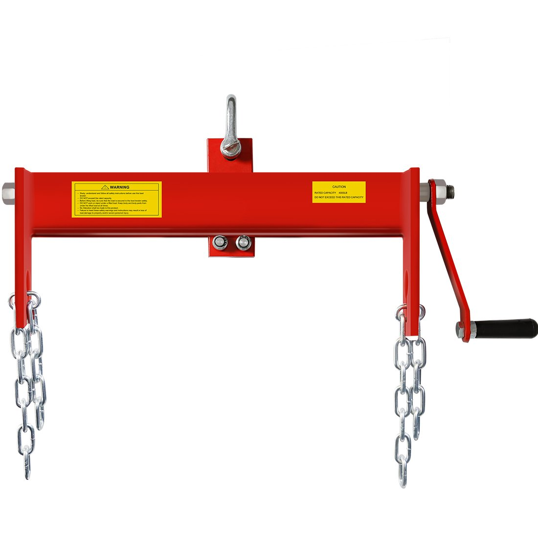 VIVOHOME Heavy Duty Steel 2 Ton Engine Hoist Load Leveler with 2 Chains 4000 lbs by VIVOHOME
